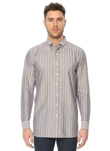 Çizgili Uzun Kollu Gömlek-Lardini